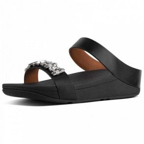 Fitflop™ Fino™ Bejewelled Leather Slides