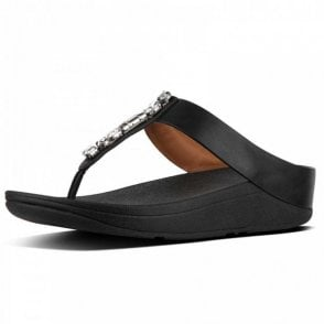Fino™ Bejewelled Leather Toe Thong