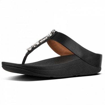 Fitflop™ Fino™ Bejewelled Leather Toe Thong