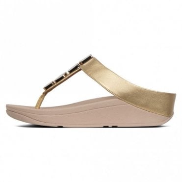 3bfea04689d3 Fitflop™ Fino Shellstone Toe-post Sandal