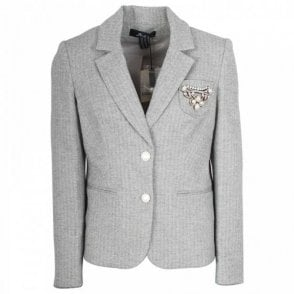 Badoo Fitted Blazer Jacket With Pearl Buttons