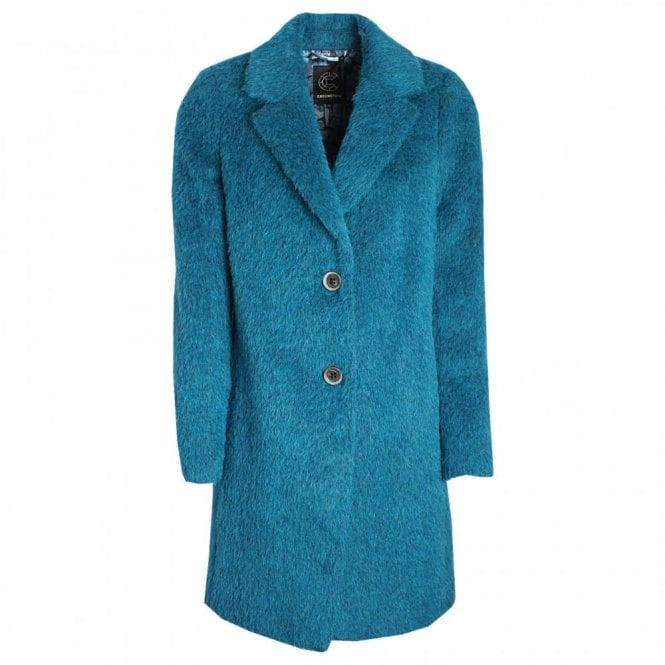 Creenstone Fitted Single Breasted Wool Combi Coat