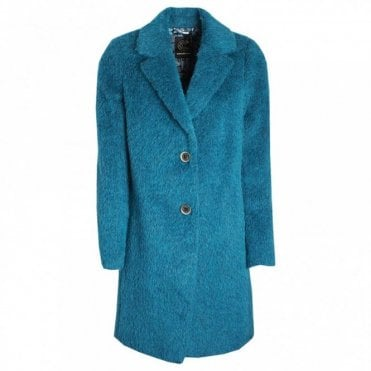 Fitted Single Breasted Wool Combi Coat