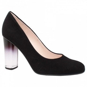 Flademara Glass Block Heel Court Shoes