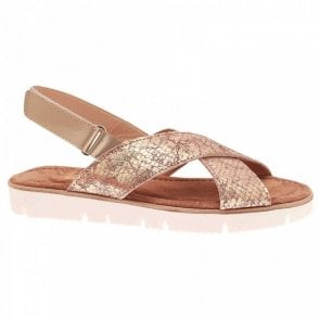 Alpe Flat Adjustable Slide On Sandal