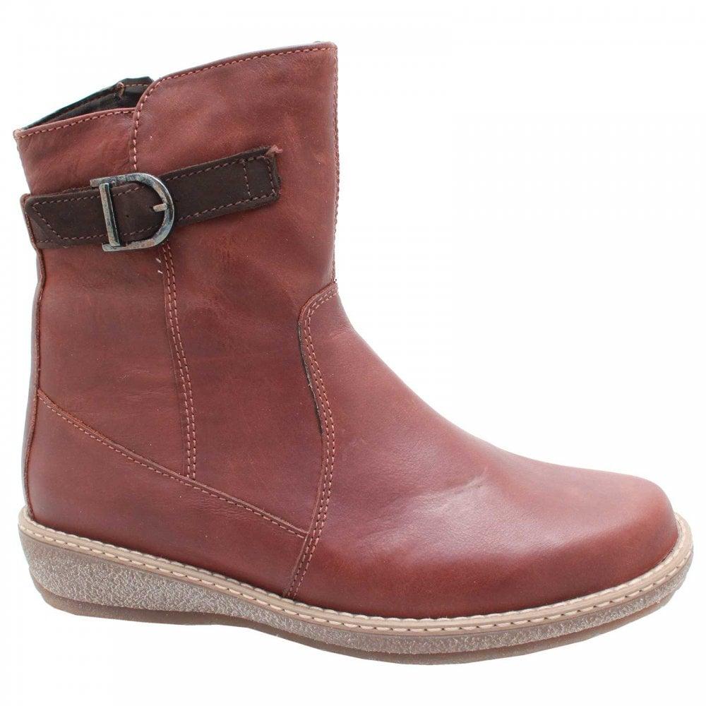 Infos für Bestbewertet authentisch herren Flat Brown Leather Buckle Ankle Boots