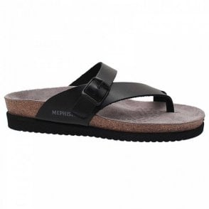 Flat Footbed Buckle Detail T-post Sandal