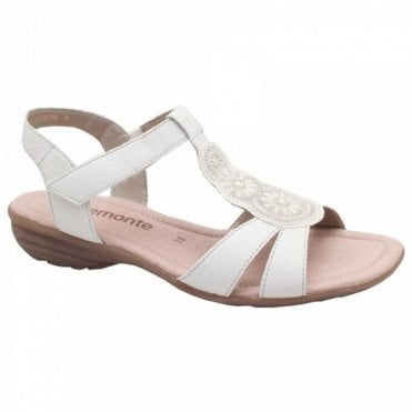Flat Metalic Circle Detail Sandal