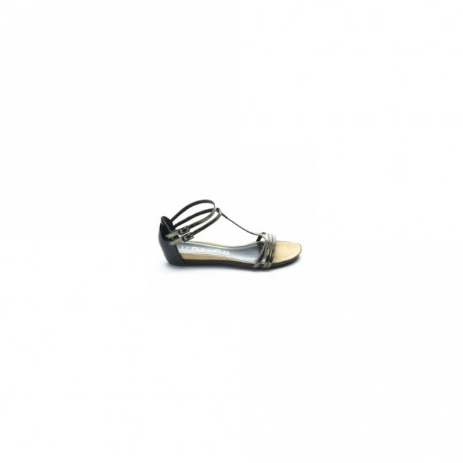 Unisa Flat Strappy Sandal With Dual Buckle