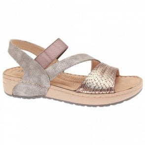 Rieker Flatform Multi Cross Over Strap Sandal