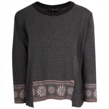 Badoo Floral Edge Long Sleeve Knitted Jumper
