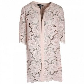 Badoo Floral Lace Long-line Jacket