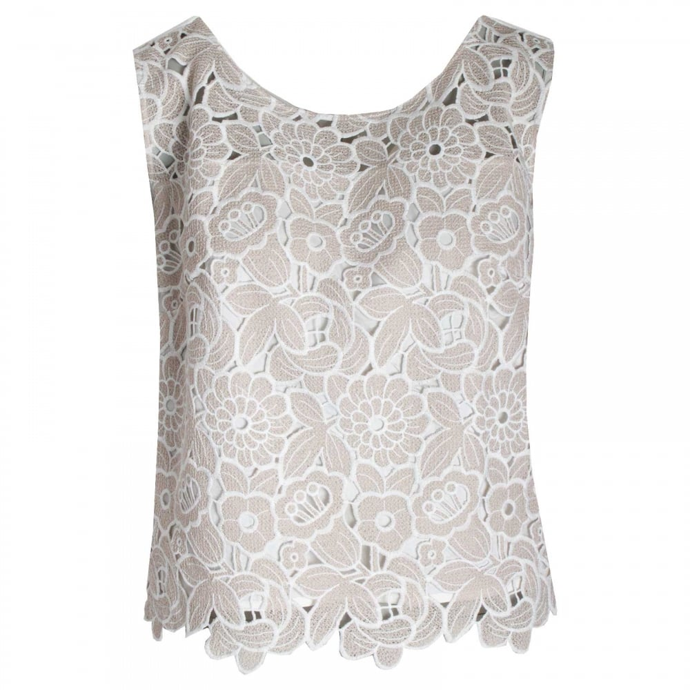 3c3cb004efb8c Floral Lace Sleeveless Top By Badoo At Walk In Style