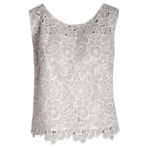 Badoo Floral Lace Sleeveless Top