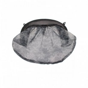 Floral Mesh Round Clutch Bag