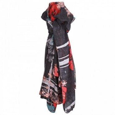 Floral Print Long Scarf