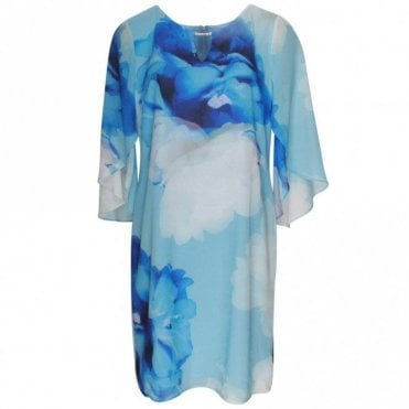 Frank Lyman Floaty Sleeves Loose Fit Floral Dress