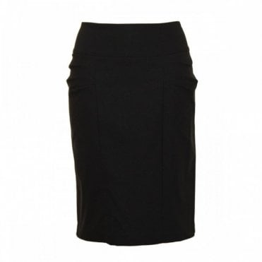 Knee Length Skirt With Side Pleating