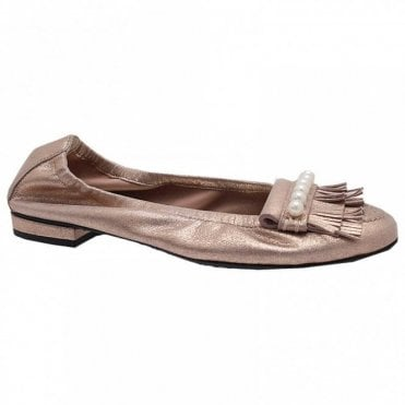 Fringe And Pearls Ballet Pump