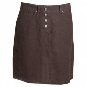Front Button Loose Fit Skirt