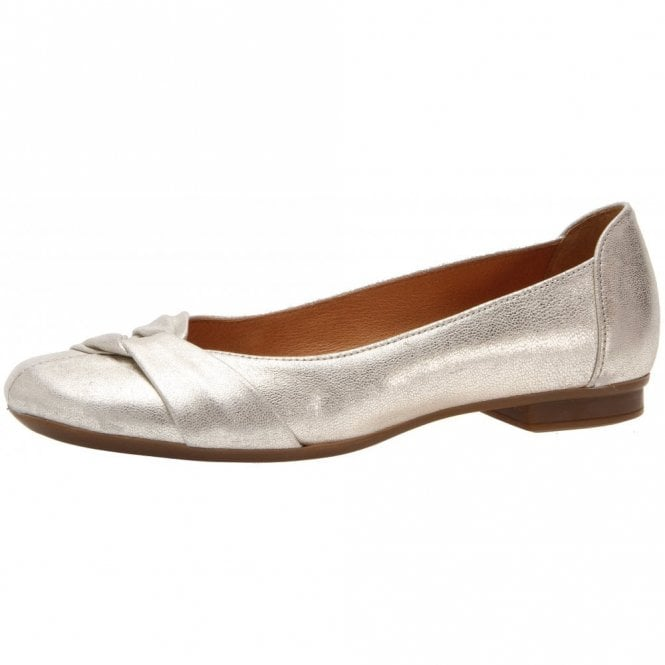Gabor Frost Ballet Pump With Tie Detail