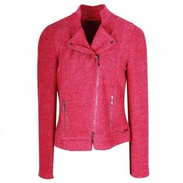 Fuchsia Fitted Long Sleeve Jacket