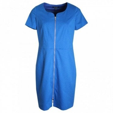 Marie Mero Full Front Zip Short Sleeve Dress
