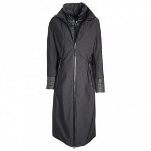 Full Length Roll Collar Raincoat