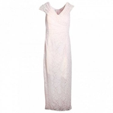 Full Length Sleeveless Lace Dress