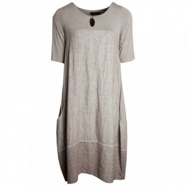 Fully Lined Half Sleeve Linen Dress