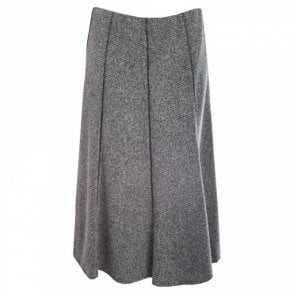 Fully Lined Long Tweed Skirt