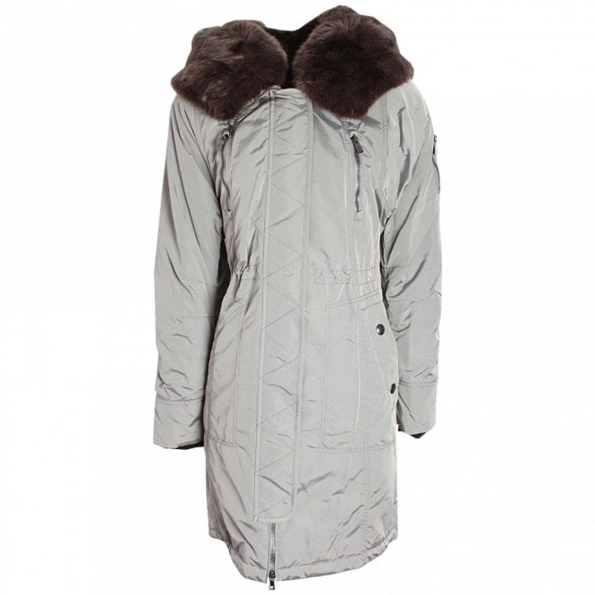 Creenstone Fur Collar Hooded Padded Parka