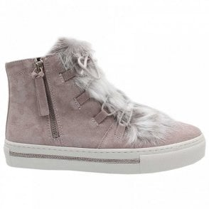 Fur Tongue Lace Up Trainer
