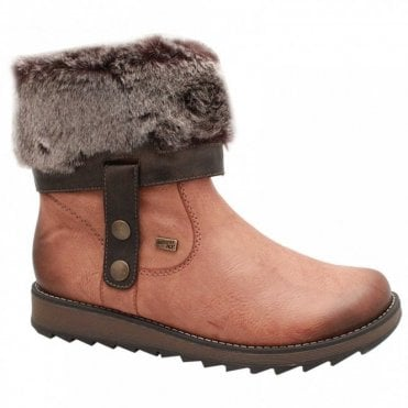 Fur Top Two Way Ankle Boots
