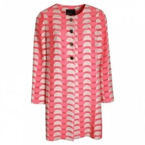 Geometric Pattern Lightweight Long Coat