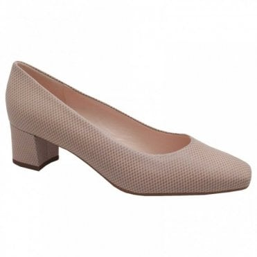 Ghana Block Low Heel Court Shoes