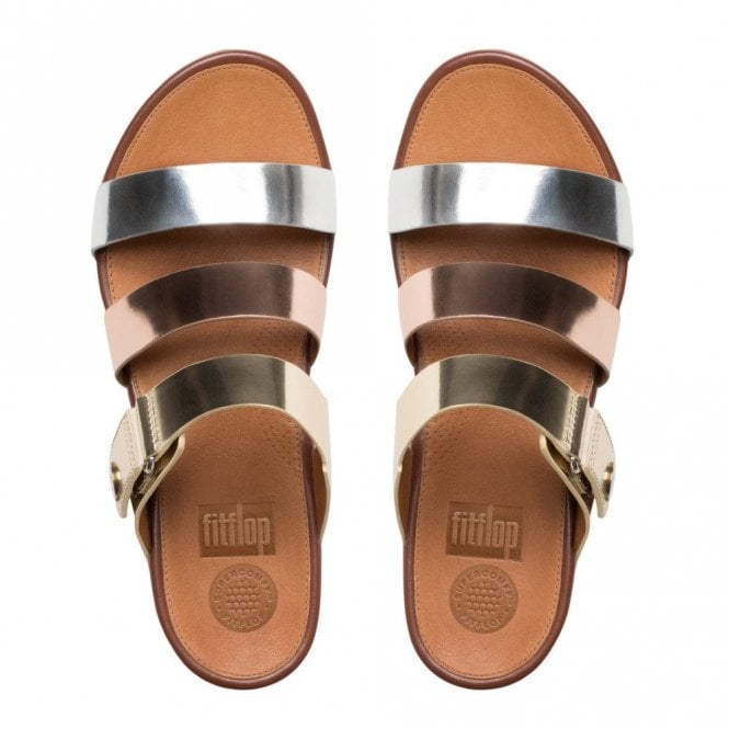Fitflop™ Gladdie Leather Wrap Slide Sandal