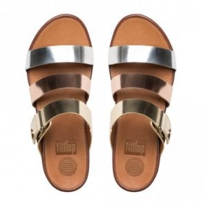 Gladdie Leather Wrap Slide Sandal