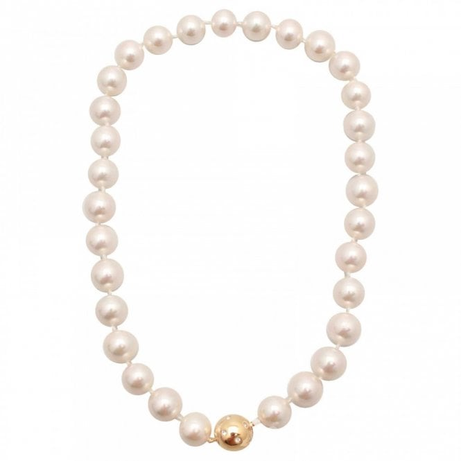 Nour London Glass Pearl Magnetic Clasp Necklace