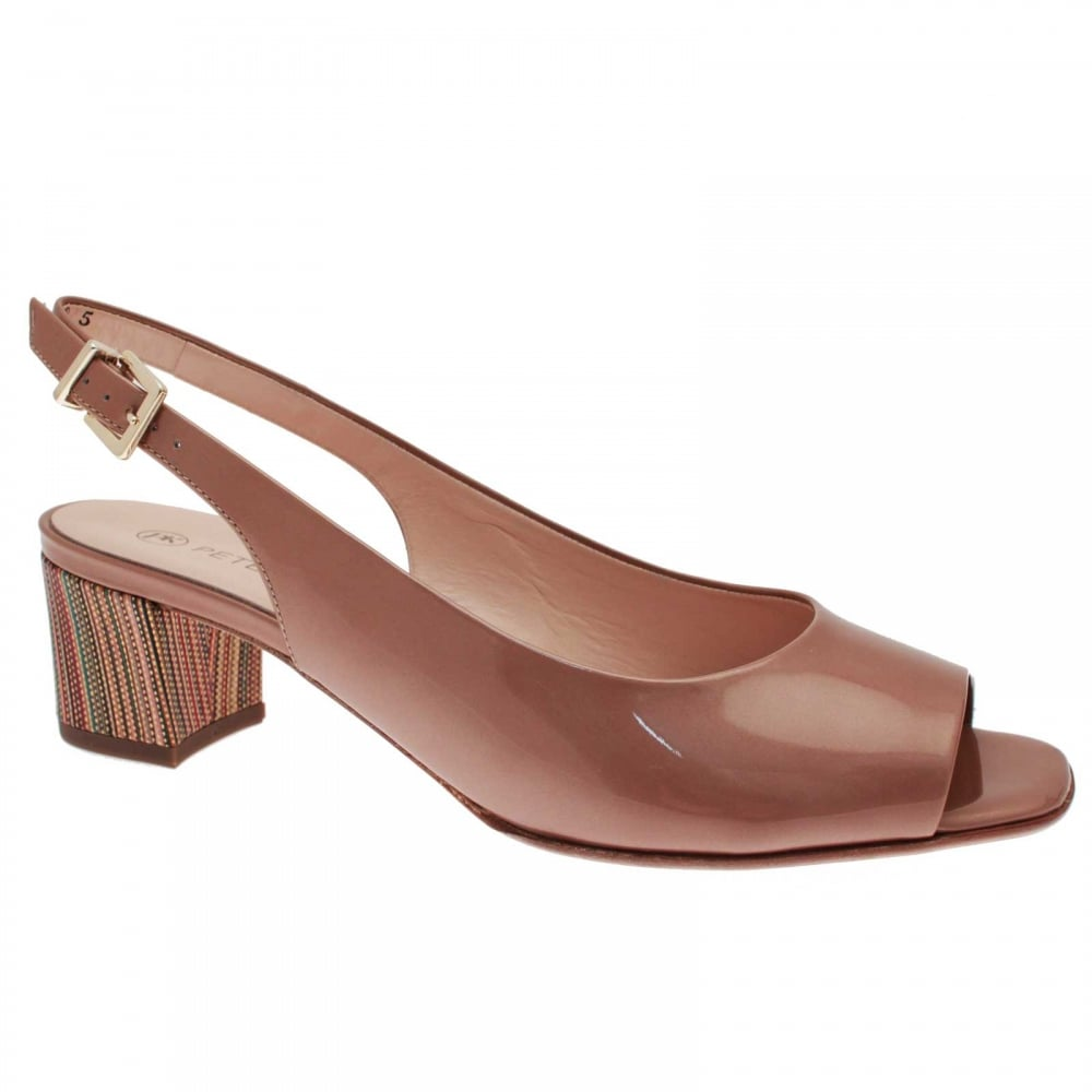 02f403e2765 Gloria Low Heel Patent Sling Back Sandal By Peter Kaiser At Walk In ...