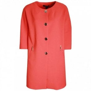 Badoo Gold Button Long-line Duster Coat