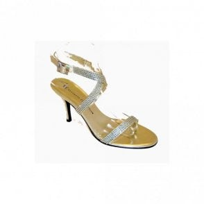 Gold Diamante High Ankle Strap