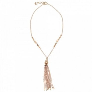 Gold Dust Long Beaded Necklace
