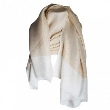 Golden Dream Panel Effect Scarf
