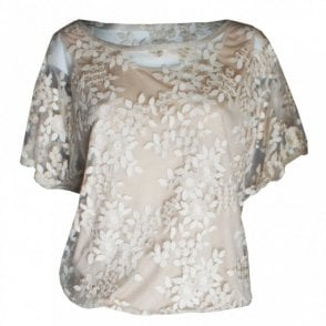 Marie Mero Golden Dream Short Sleeve Lace Top
