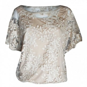 Golden Dream Short Sleeve Lace Top