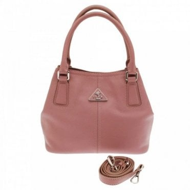 Grab Handle Handbag With Shoulder Strap