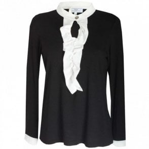Grandad Collar Long Sleeve Blouse