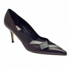 Renata Grey Patent High Heel Court Shoe