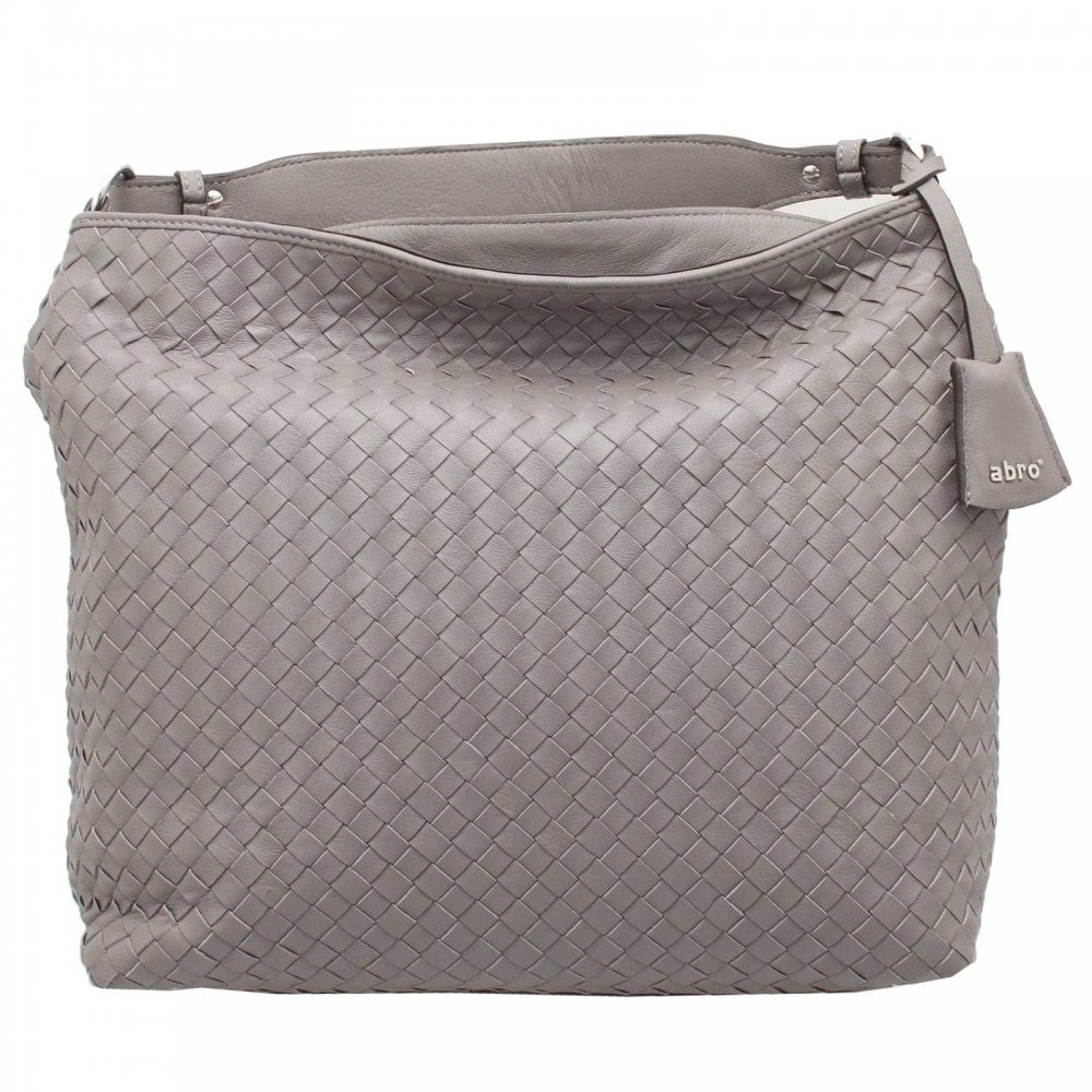 b2756b2286 Grey Woven Leather Shoulder Handbag By Abro At Walk In Style